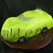 lime sports car cake