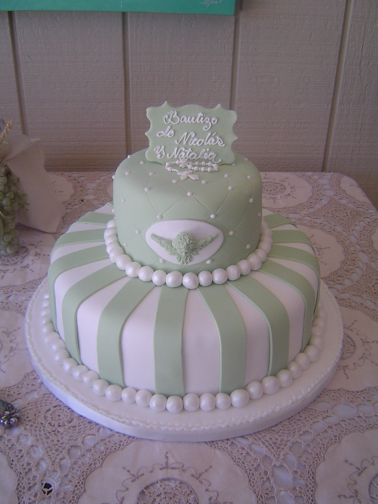 Fondant Baptism Cake Nick & Nati s BEAUTIFUL Baptism ...