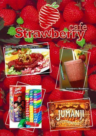 Menu Cafe Strawberry Jakarta Barat