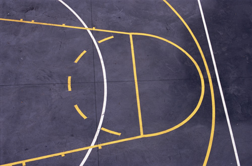 Inner city basketball court