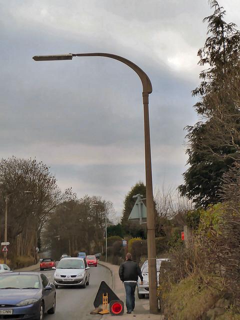 Otley Road, Baildon, W Yorkshire - old street lamp column ...