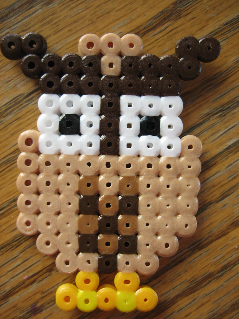 perler bead owl