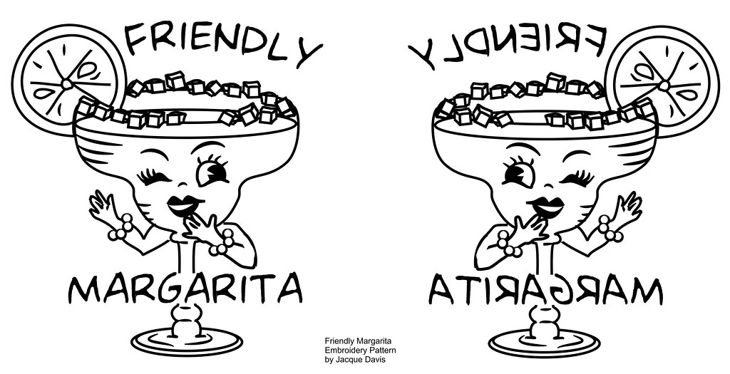 Friendly Margarita Embroidery Transfer Pattern Recently