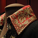 Gold embroidery on red wool collar - one of Napoleon's uniforms