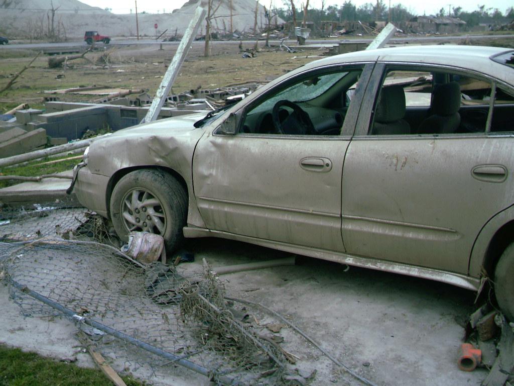 Mom Rosemary's Car Picher Oklahoma Tornado Aftermath 043