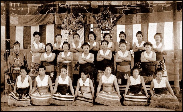 A Gaggle Of Gorgeous Gals -- Female Sumo Wrestlers Of Old -8954