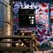 Graffiti and Pub Bench Tables