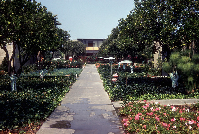Disneyland hotel garden disneyland 1950s 1970s 48 for Garden design 1970s