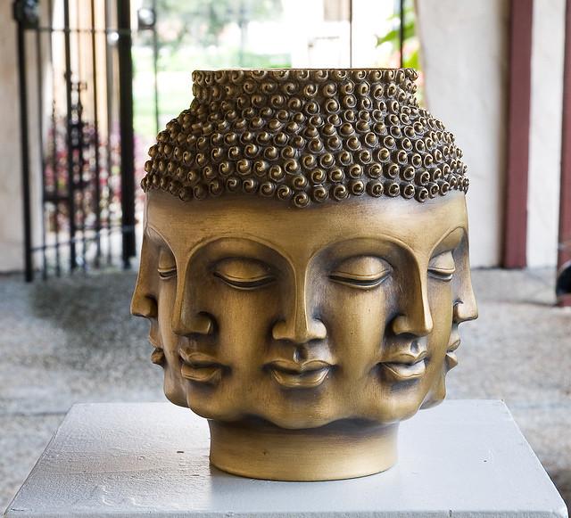 buddha vase 12quot cast resin buddha head vase donation