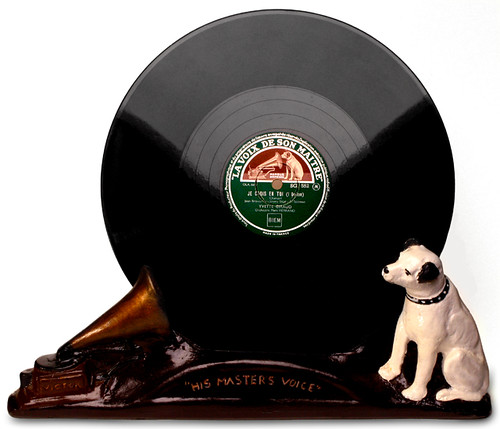 his master 39 s voice hmv record and display with nipper flickr photo sharing. Black Bedroom Furniture Sets. Home Design Ideas
