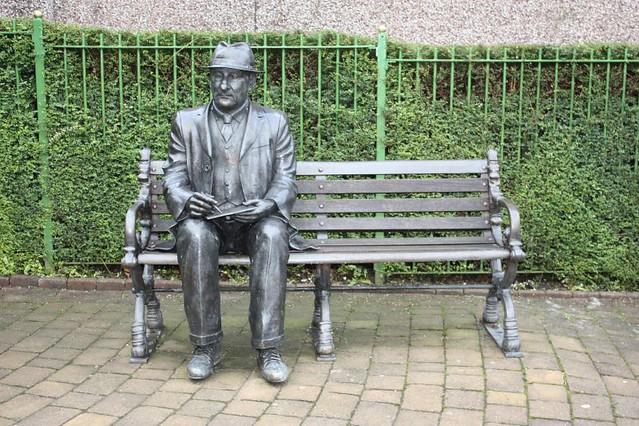 Front View Of Statue Of LS Lowry At Mottram Lawrence Flickr