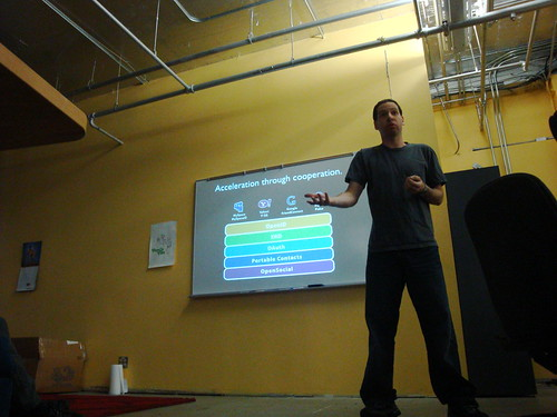 Eran Hammer at the Open Stack Meetup | by Silverisdead