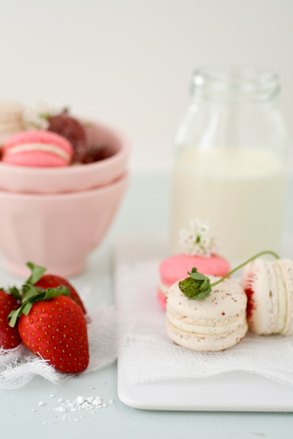 strawberry and vanilla bean macarons | recipes and story on ...
