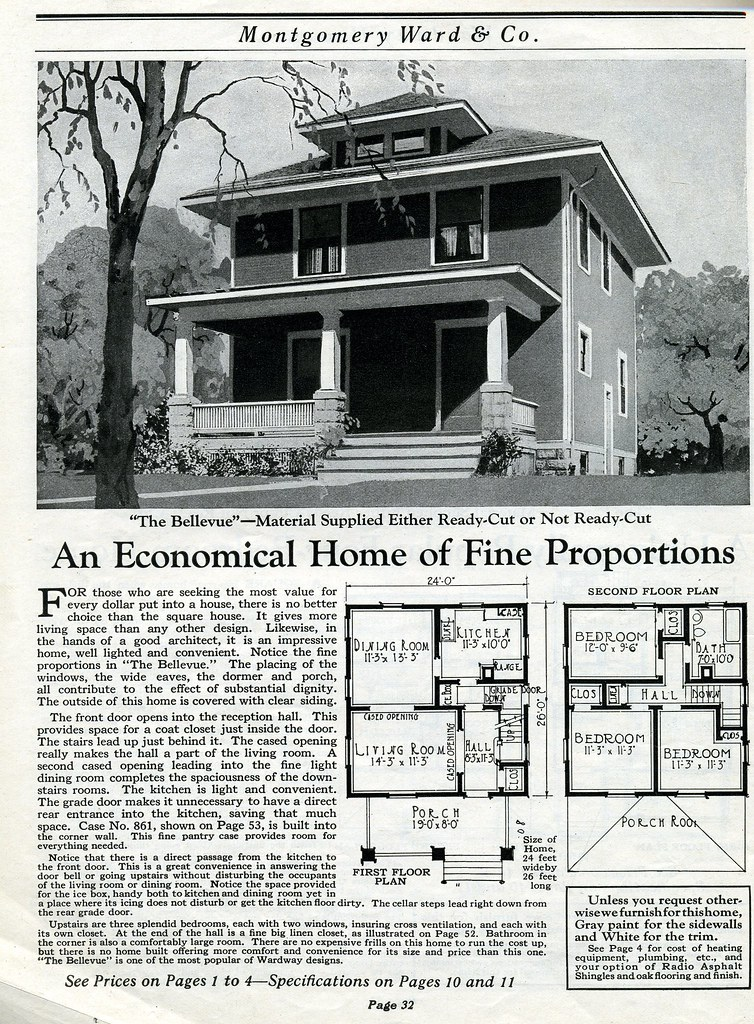 Montgomery ward houses plans home design and style for Vintage floor plans