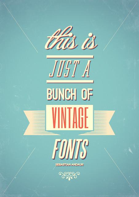 Vintage fonts flickr photo sharing for Scritte vintage