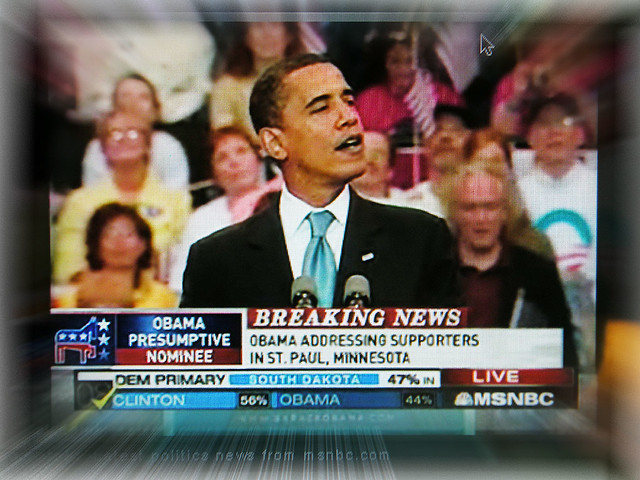 Truly Historic Moment >> Truly Historic Moment We Watched On Msnbc And I Had A Que Flickr