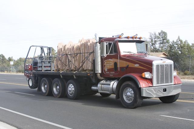 Tri Axle Flatbed : Southwest flagstone peterbilt tri axle flatbed
