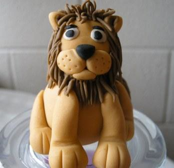 how to make a fondant lion