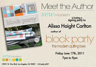 If you're in LA, I hope you'll come to my signing party! | by alissahcarlton