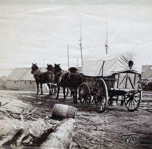 Covered Wagon City Point Virginia Civil War Supply Dep