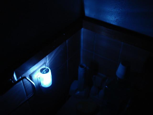 Bathroom night light a little bit of security seven for Bathroom night light