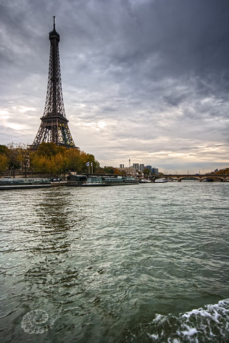 Eiffel Tower seen from the Seine, Paris, France :: Single RAW HDR | by Erroba