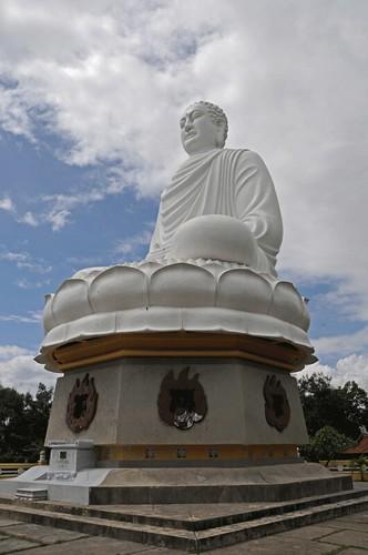Giant Buddha Long Son Buddhist Temple Nha Trang Vietnam