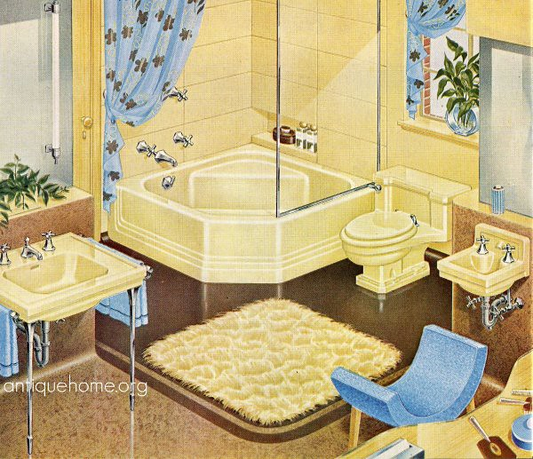 1940s yellow bathroom standard plumbing catalog yellow for 1940s bathroom decor