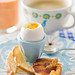 "Soft Boiled Eggs with Toast ""Soldiers"" and Pancetta Chips 1"