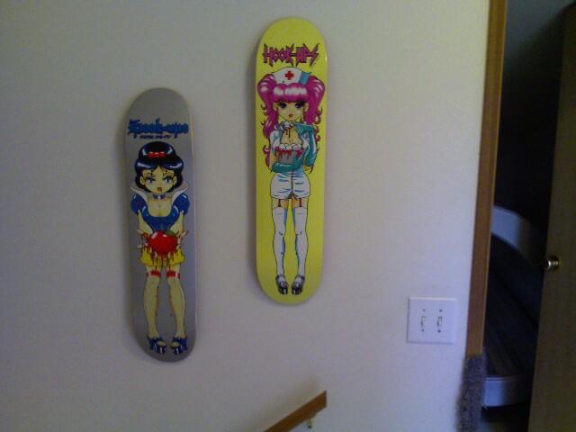 Hanging Skateboard Decks On The Wall Ceba And I Decided