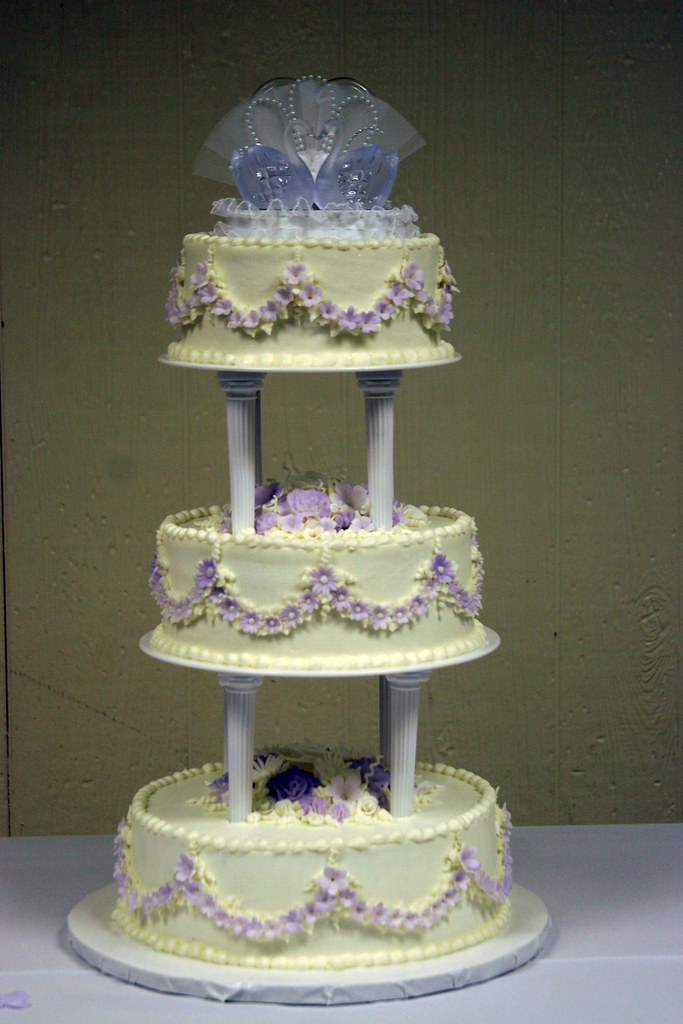 3 tier wedding cakes with purple flowers wedding cake 3 tier purple flowers bonucc10 flickr 10332