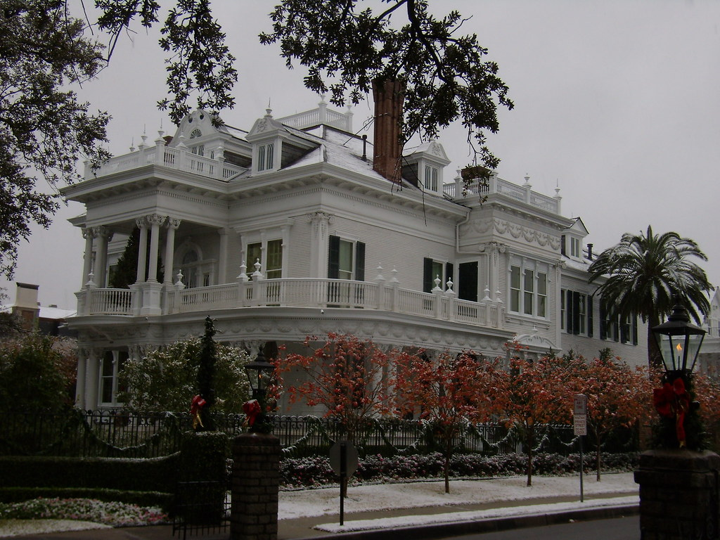 the wedding cake house st charles ave new orleans wedding cake house dusted in snow charles ave 20900