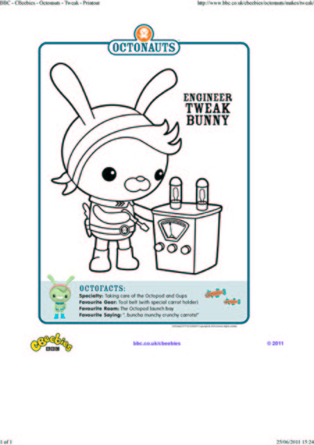 octonauts coloring pages bbc - photo#2