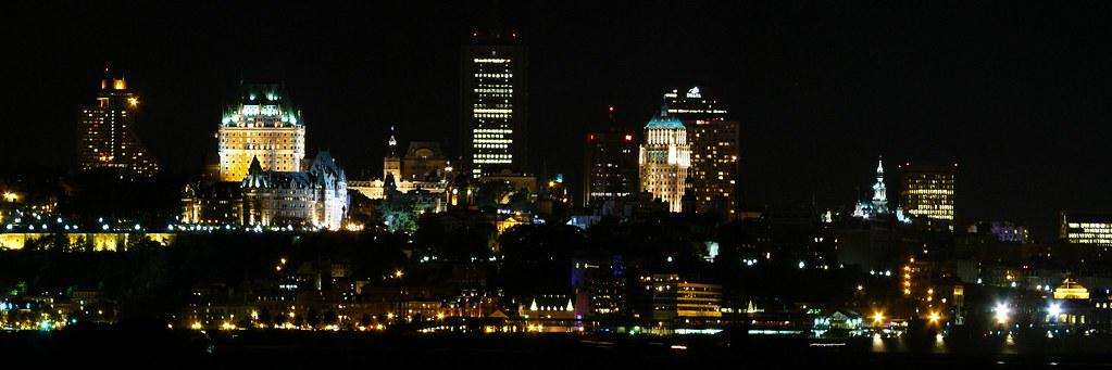 Panorama Du Centre Ville De Qu 233 Bec La Nuit De L 233 Vis Queb