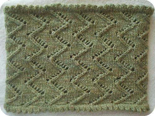 zigzag lace cowl | by MandyPowers