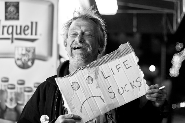 Happy and Homeless | I met this guy on Haight St. near ...