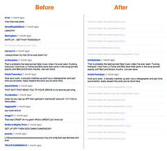 YouTube Comment Snob - Before and After | by waxpancake