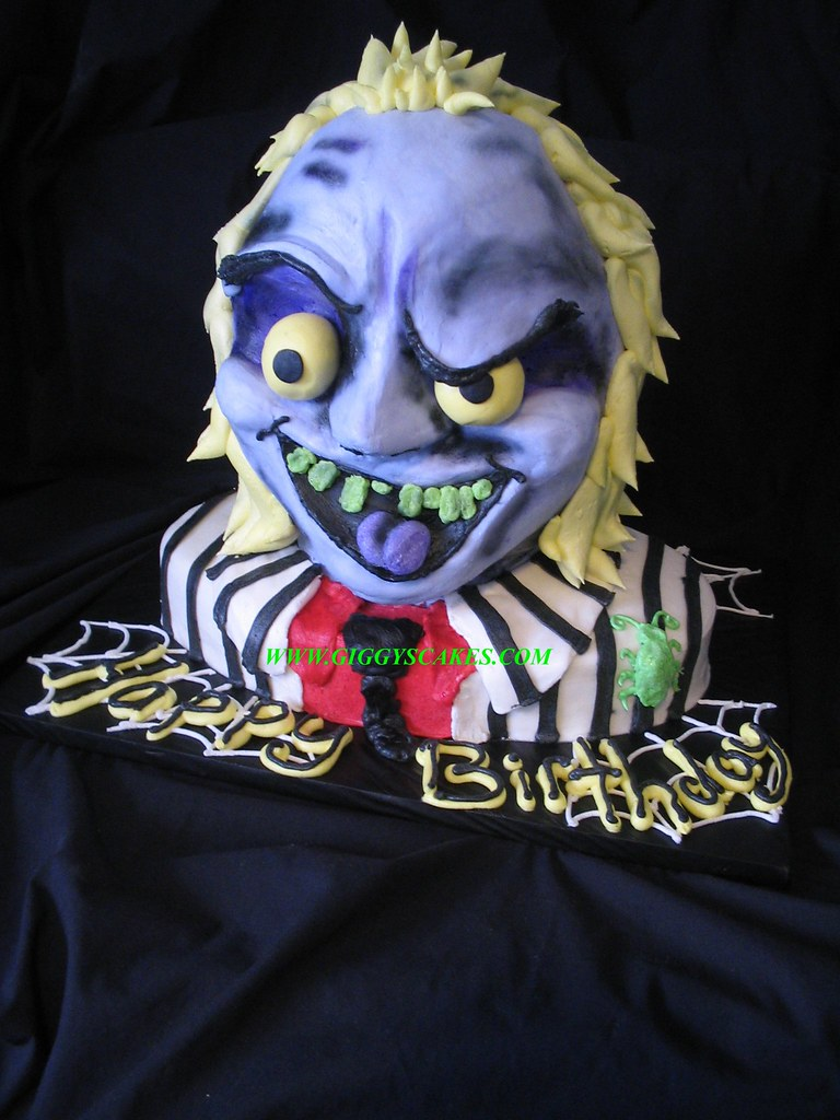 Beetlejuice Cake All Buttercream Except The Eyes Which