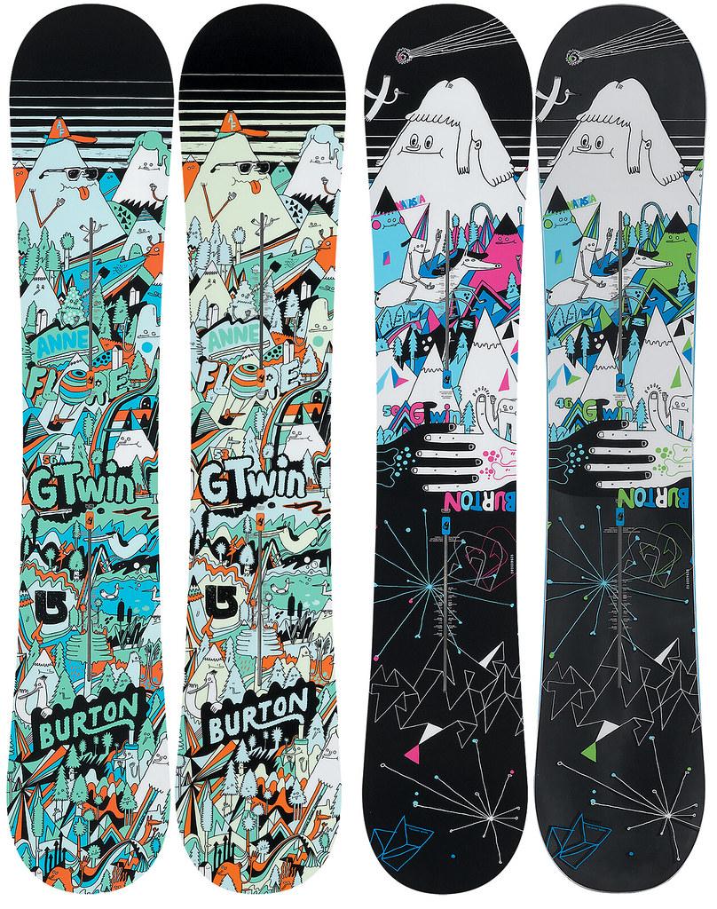 Burton Snowboards I did two Burton Snowboard graphics