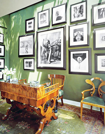 'Minster Green' by Farrow & Ball: Black + white photography + lush green walls | by SarahKaron