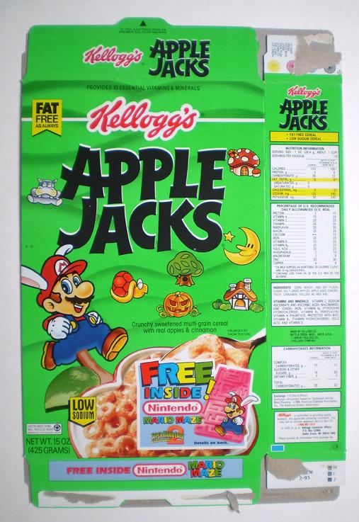 Apple Jacks Cereal Box Apple Jacks Cereal Box