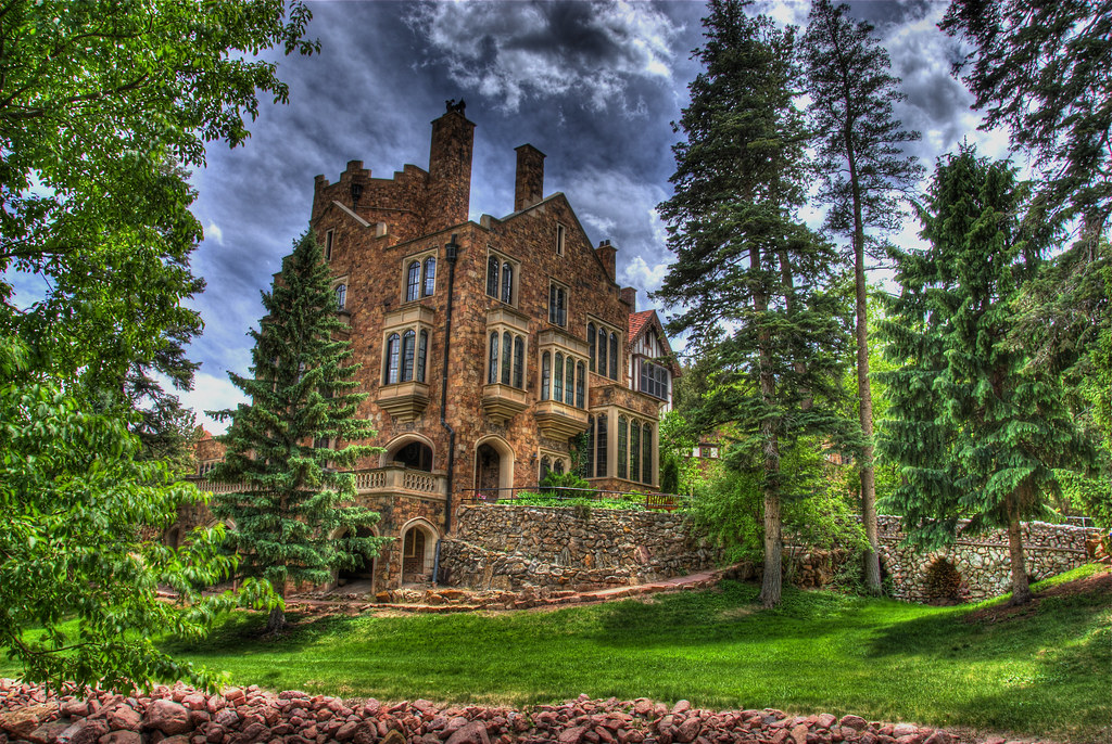 Glen Eyrie Castle Footbridge Colorado Springs