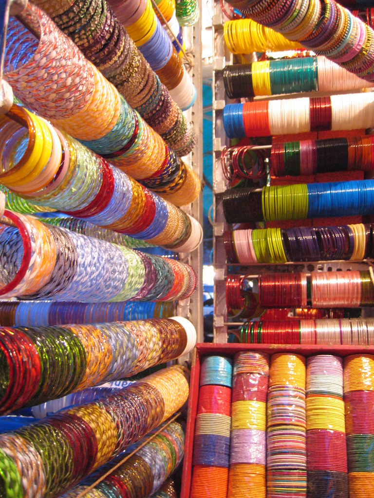 Indian bangles | Bangle stall in Delhi (Digital)