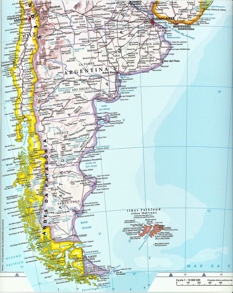 Mapa parcial Am rica del Sur Am rica do Sul South Amer Flickr