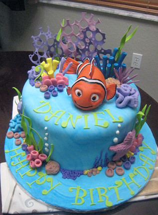 Nemo Birthday Cake Nemo Is Hand Modelled From Rice