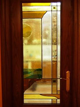 Vidriera para puerta de cocina vidrieras artesanales - Cristales para puertas de cocina ...