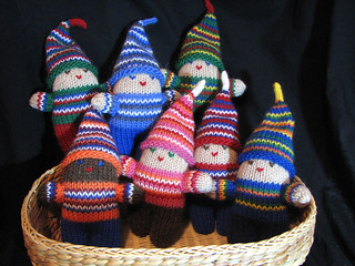 Seven Happy Elves in a Basket | by Toria Clark
