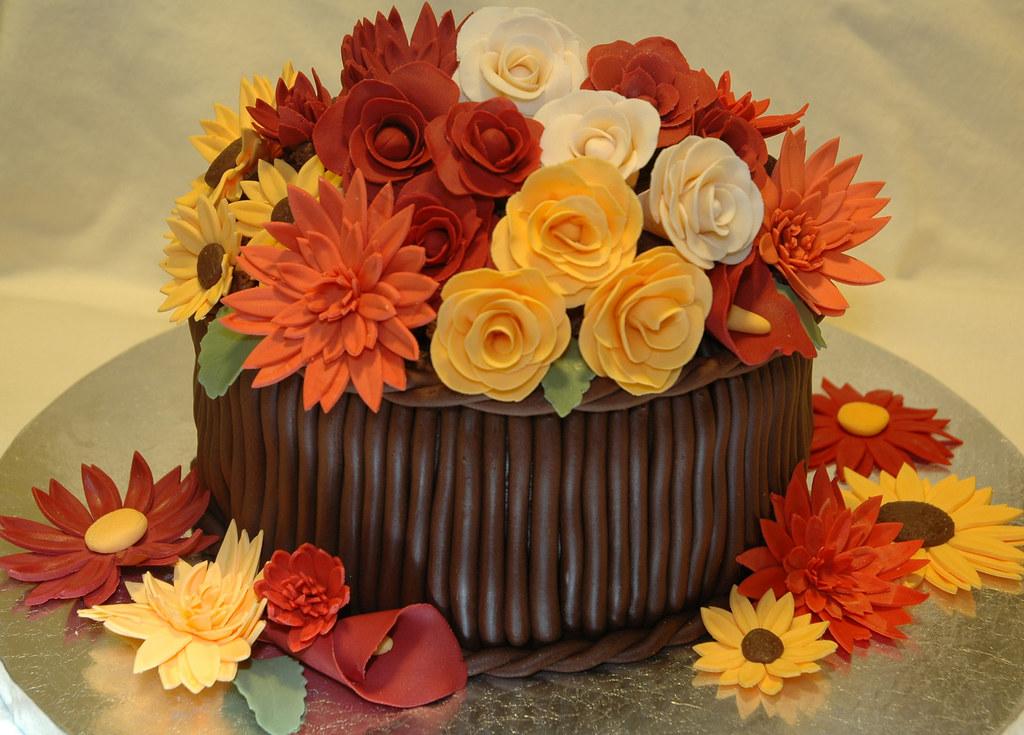 Flower Basket Cake Images