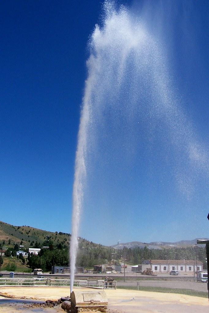 Soda Springs Erupting