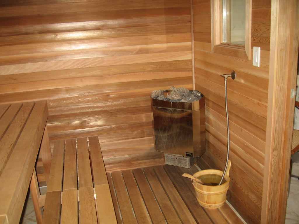 Basement sauna interior cam lieu flickr for Building a sauna in the basement